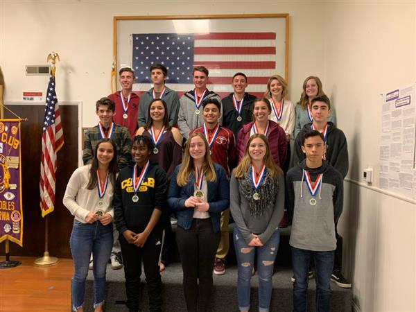 2018-2019 Winter Lions Club award recipients